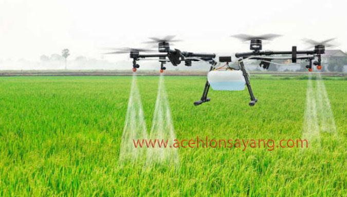 Drone Untuk Penyiraman Tanaman Padi