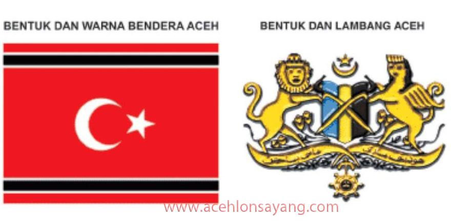 Bentuk, Warna Bendera dan Lambang Aceh
